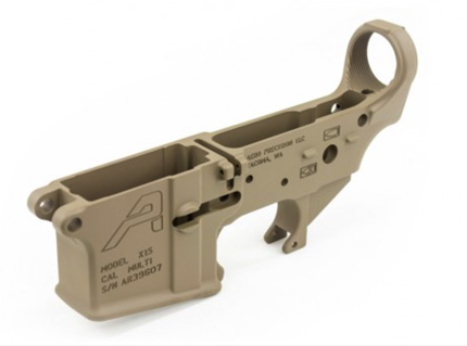 AR15 Stripped Lower Receiver Gen 2 - FDE Cerakote
