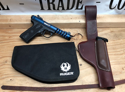 Mark III 22/45 LITE 22LR with Volquartsen Trigger and Custom Leather Holster